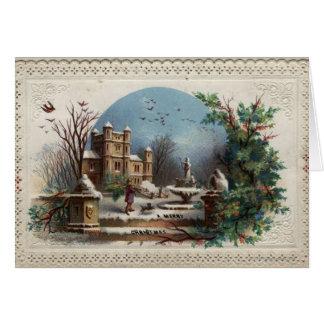 Cartes Décembre 1872 : Le jardinier rassemble le houx