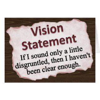 Cartes Déclaration de vision