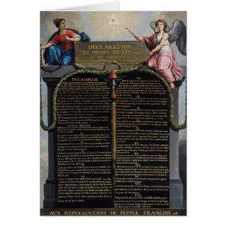 Cartes Déclaration des droites de l'homme et du citoyen