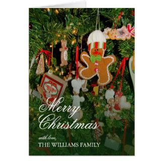 Cartes Décor d'arbre de Noël - ornements, bonhomme en