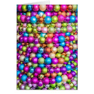 Cartes Décorations multicolores de boule en verre
