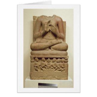 Cartes Découpage de Bouddha dans l'attitude de prêcher un