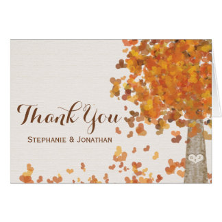 Cartes découpées de Merci de mariage de automne