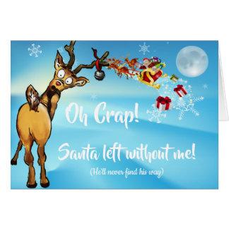 Cartes Défunte excuse drôle de Noël