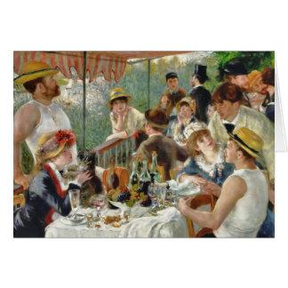 Cartes Déjeuner du cru Renoir de partie de canotage