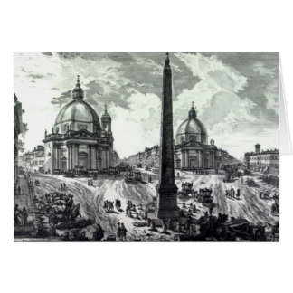 Cartes Della Piazza del Popolo, c.1750 de Veduta
