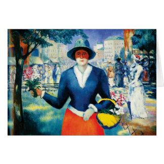 Cartes Demoiselle de honneur par Kazimir Malevich
