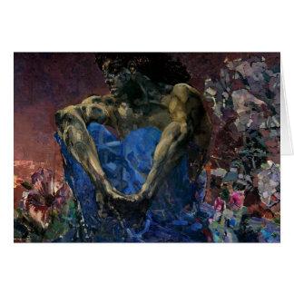 Cartes Démon assis par Vrubel- de Mikhail