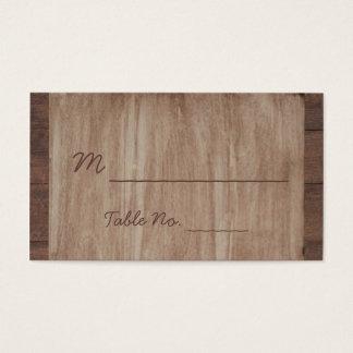 Cartes d'endroit de mariage campagnard en bois et