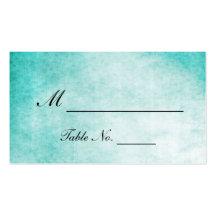 Cartes d'endroit de mariage d'aquarelle de colibri carte de visite