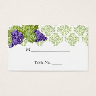 Cartes d'endroit de mariage de jardin de vigne