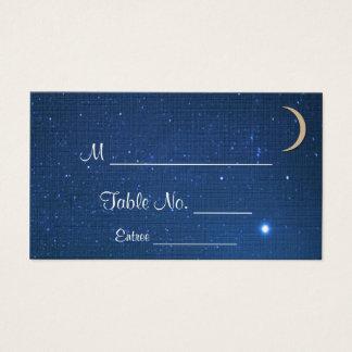Cartes d'endroit de mariage de nuit étoilée