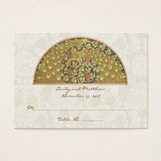 Cartes d'endroit de Tableau de damassé de vignoble