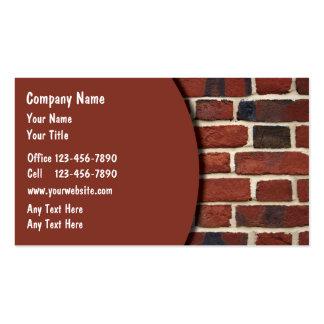 Cartes d'entreprise de construction cartes de visite personnelles