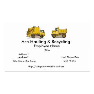 Cartes d'entreprise de construction de camion à or modèles de cartes de visite