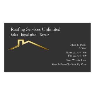 Cartes d'entreprise de construction de toiture modèles de cartes de visite