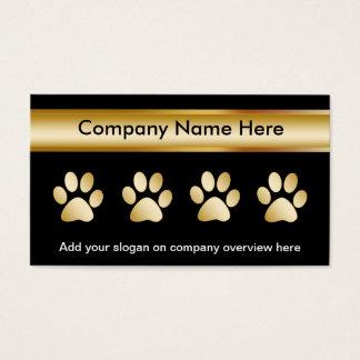 Cartes d'entreprise de services d'animal familier