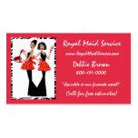 Cartes d'entreprise de services de domestique cartes de visite personnelles