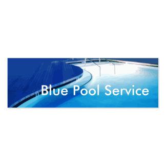 Cartes d'entreprise de services de piscine carte de visite petit format