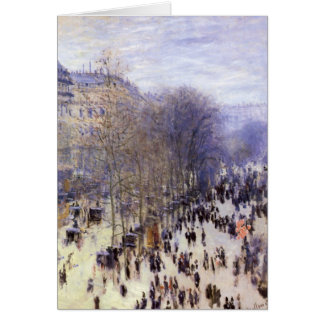 Cartes DES Capucines par Claude Monet, beaux-arts de