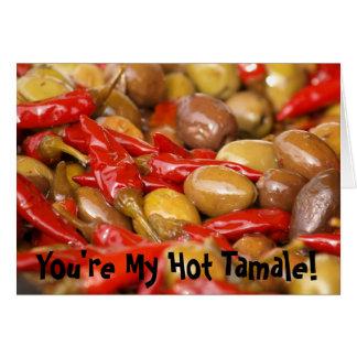 Cartes des jalepenos d'olives, vous êtes ma tamale chaude