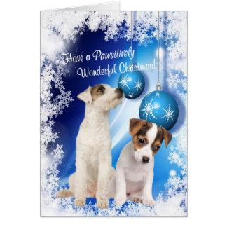 Cartes Des souhaits de Noël de Jack Russell -
