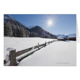 Cartes descente de ski transnationale préparée fraîche