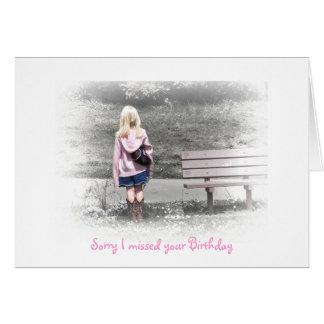 Cartes Désolé j'ai manqué votre anniversaire
