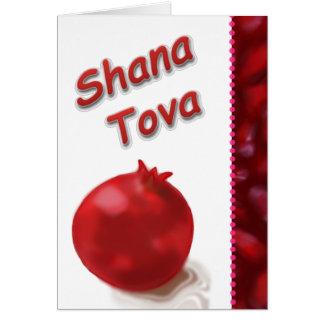 Cartes Dessin rouge de grenade mignonne - Shana Tova