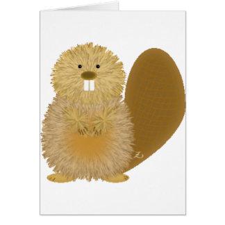 Cartes Dessins animaux adorables : Castor