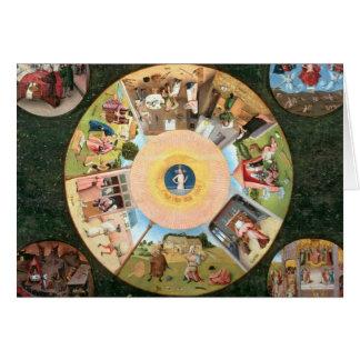 Cartes Dessus de table des sept péchés mortels