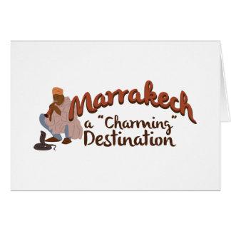 Cartes Destination avec du charme de Marrakech