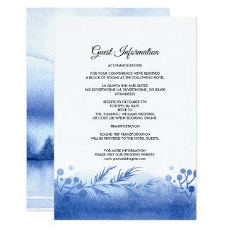 Cartes détail bleues de mariage de paysage d'hiver