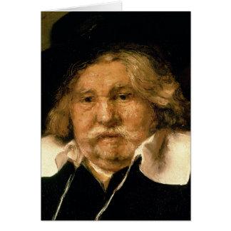 Cartes Détail d'un portrait d'un vieil homme, 1667