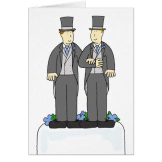 Cartes Deux félicitations de mariage homosexuel de mariés