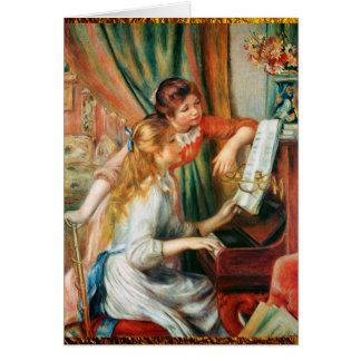 Cartes Deux filles au piano par Renoir
