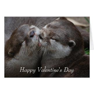 Cartes Deux loutres adorables - heureuse Sainte-Valentin