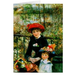 Cartes Deux soeurs (sur la terrasse) par Pierre Renoir