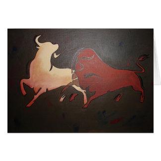 Cartes Deux taureaux de combat