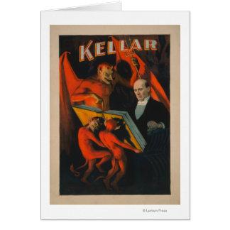 Cartes Diable et démons de Kellar avec l'affiche magique