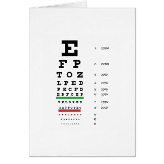 Cartes diagramme de vision d'oeil de Snellen pour