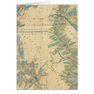 Cartes Diagramme du fleuve Mississippi inférieur