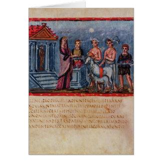 Cartes Dido faisant un sacrifice, à partir de Vergilius