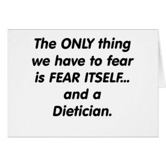 Cartes diététicien de crainte