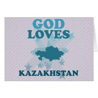 Cartes Dieu aime Kazakhstan