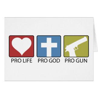 Cartes Dieu anti-avortement et pro, pro arme à feu