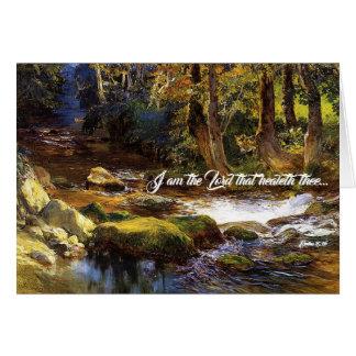 Cartes Dieu de rivière de courant de forêt de cerfs