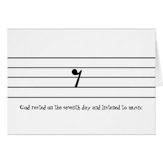 Cartes Dieu s'est reposé le septième jour et a écouté…