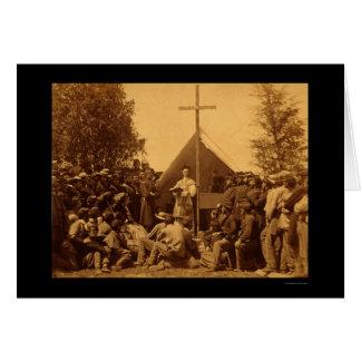 Cartes Dimanche matin la masse catholique 1861