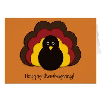 Cartes Dinde de thanksgiving